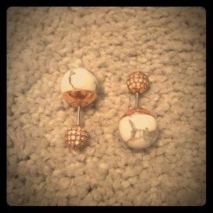 Fossil Stone Drop Earrings
